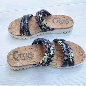 Circus Sam Edelman Snakeskin Cork Sandals